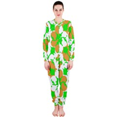 Graphic Floral Seamless Pattern Mosaic OnePiece Jumpsuit (Ladies)