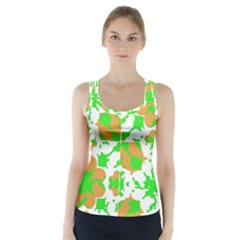 Graphic Floral Seamless Pattern Mosaic Racer Back Sports Top