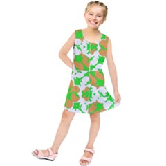 Graphic Floral Seamless Pattern Mosaic Kids  Tunic Dress