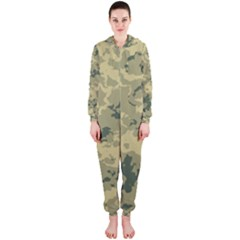 GreenCamouflage Hooded Jumpsuit (Ladies)