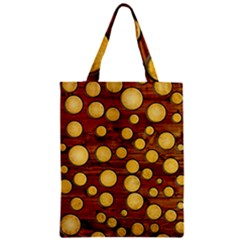 Wood and gold Zipper Classic Tote Bag