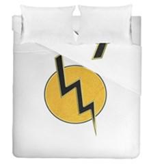 Lightning Bolt Duvet Cover Double Side (queen Size)