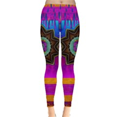 Air And Stars Global With Some Guitars Pop Art Leggings