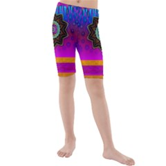 Air And Stars Global With Some Guitars Pop Art Kids  Mid Length Swim Shorts