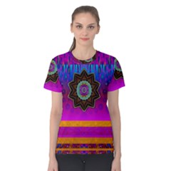 Air And Stars Global With Some Guitars Pop Art Women s Cotton Tee