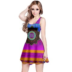 Air And Stars Global With Some Guitars Pop Art Reversible Sleeveless Dress