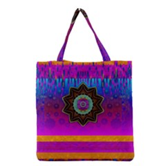 Air And Stars Global With Some Guitars Pop Art Grocery Tote Bag