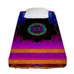 Air And Stars Global With Some Guitars Pop Art Fitted Sheet (Single Size)