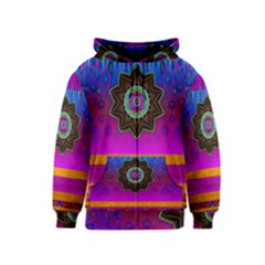 Air And Stars Global With Some Guitars Pop Art Kids  Zipper Hoodie