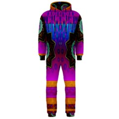 Air And Stars Global With Some Guitars Pop Art Hooded Jumpsuit (Men)