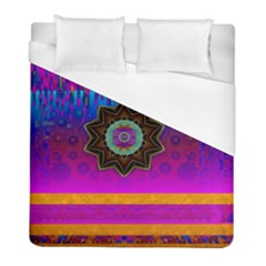 Air And Stars Global With Some Guitars Pop Art Duvet Cover (Full/ Double Size)