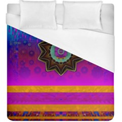 Air And Stars Global With Some Guitars Pop Art Duvet Cover (King Size)