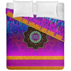 Air And Stars Global With Some Guitars Pop Art Duvet Cover Double Side (California King Size)