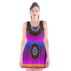 Air And Stars Global With Some Guitars Pop Art Scoop Neck Skater Dress