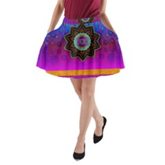 Air And Stars Global With Some Guitars Pop Art A-Line Pocket Skirt