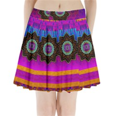 Air And Stars Global With Some Guitars Pop Art Pleated Mini Skirt