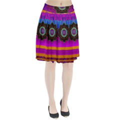 Air And Stars Global With Some Guitars Pop Art Pleated Skirt