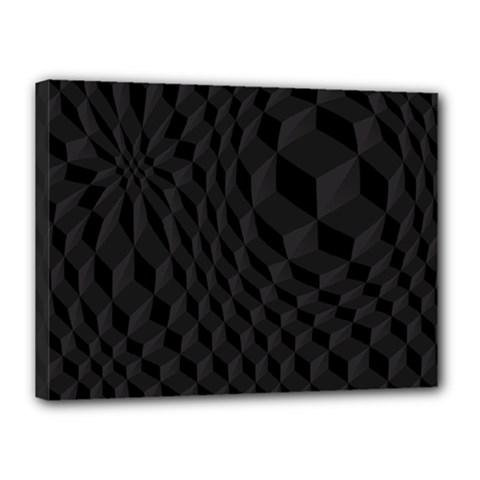 Black Pattern Dark Texture Background Canvas 16  x 12