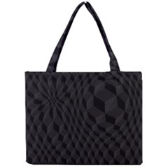 Black Pattern Dark Texture Background Mini Tote Bag