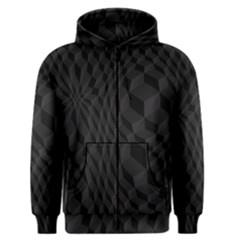 Black Pattern Dark Texture Background Men s Zipper Hoodie