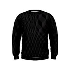 Black Pattern Dark Texture Background Kids  Sweatshirt