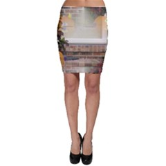 Ghostly Floating Pumpkins Bodycon Skirt