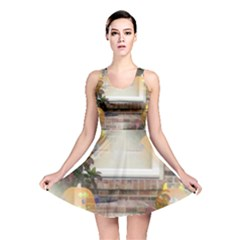 Ghostly Floating Pumpkins Reversible Skater Dress
