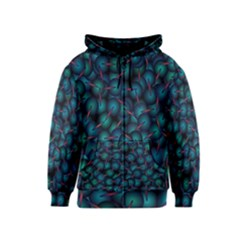 Background Abstract Textile Design Kids  Zipper Hoodie