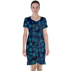 Background Abstract Textile Design Short Sleeve Nightdress