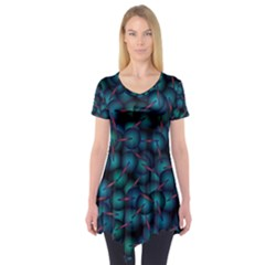 Background Abstract Textile Design Short Sleeve Tunic