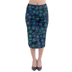Background Abstract Textile Design Midi Pencil Skirt