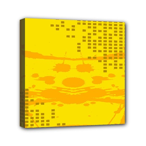 Texture Yellow Abstract Background Mini Canvas 6  x 6