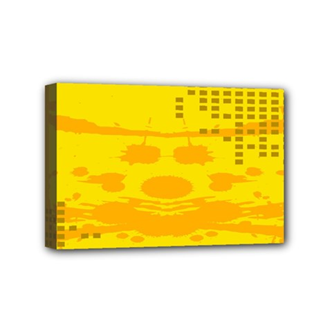Texture Yellow Abstract Background Mini Canvas 6  x 4