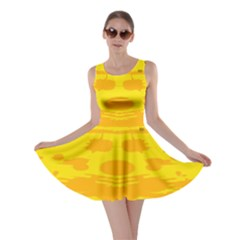 Texture Yellow Abstract Background Skater Dress