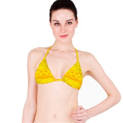 Texture Yellow Abstract Background Bikini Top