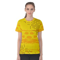 Texture Yellow Abstract Background Women s Cotton Tee