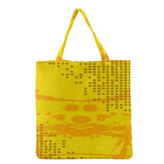 Texture Yellow Abstract Background Grocery Tote Bag