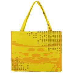 Texture Yellow Abstract Background Mini Tote Bag