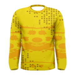 Texture Yellow Abstract Background Men s Long Sleeve Tee