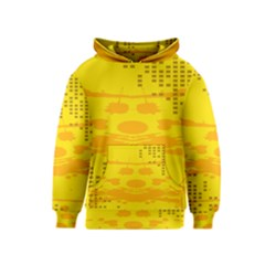Texture Yellow Abstract Background Kids  Pullover Hoodie