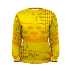 Texture Yellow Abstract Background Women s Sweatshirt
