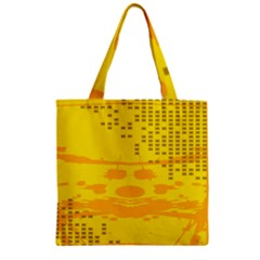 Texture Yellow Abstract Background Zipper Grocery Tote Bag
