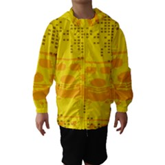 Texture Yellow Abstract Background Hooded Wind Breaker (Kids)