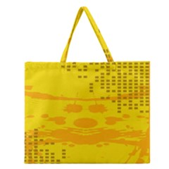 Texture Yellow Abstract Background Zipper Large Tote Bag