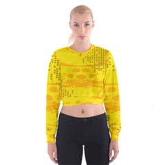 Texture Yellow Abstract Background Cropped Sweatshirt