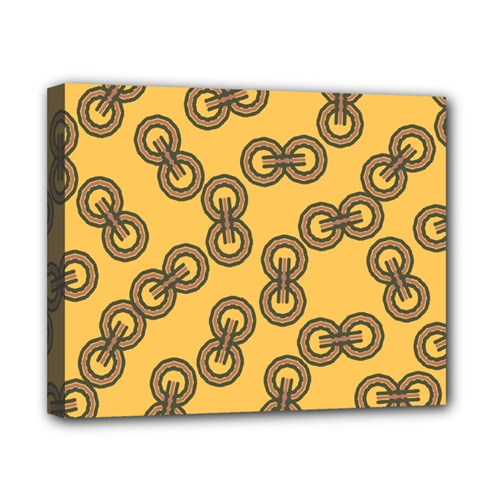 Abstract Shapes Links Design Canvas 10  x 8