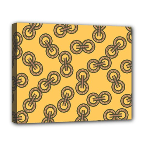 Abstract Shapes Links Design Deluxe Canvas 20  x 16