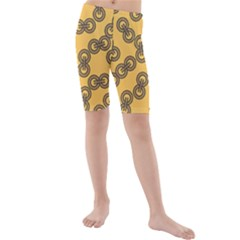 Abstract Shapes Links Design Kids  Mid Length Swim Shorts