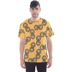 Abstract Shapes Links Design Men s Sport Mesh Tee