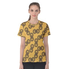 Abstract Shapes Links Design Women s Cotton Tee